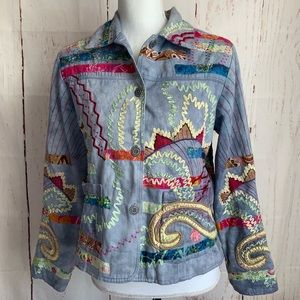 Parsley & Sage Tapestry Jacket sz Small